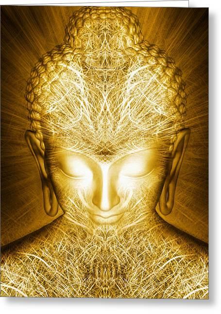 Kundalini Awakening Greeting Card by Jalai Lama