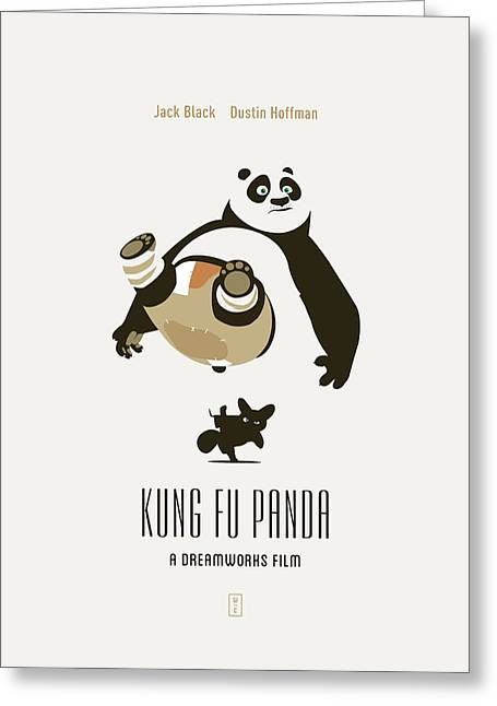 Tai Greeting Cards - Kung Fu Panda Greeting Card by Smile In The  Mind