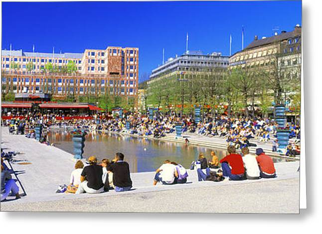 Stone Steps Photographs Greeting Cards - Kungstradgarden Park, Stockholm, Sweden Greeting Card by Panoramic Images