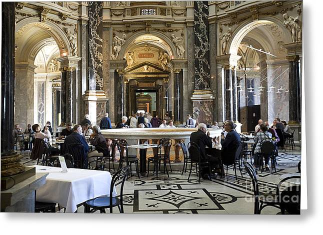 Madeline Ellis Greeting Cards - Kunsthistorische Museum Cafe II Greeting Card by Madeline Ellis