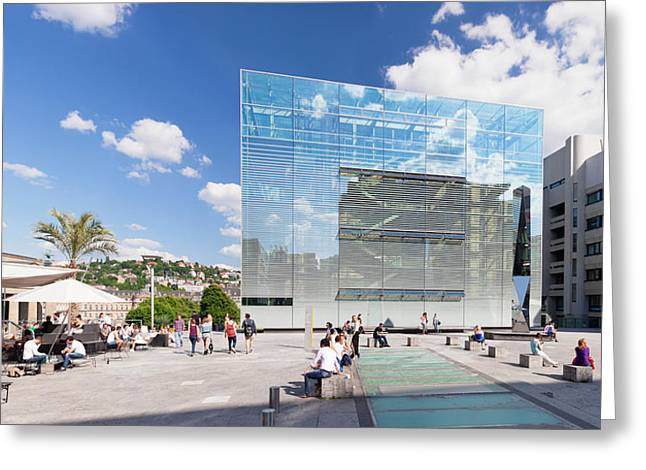 Stuttgart Greeting Cards - Kunstmuseum Stuttgart Museum Greeting Card by Panoramic Images