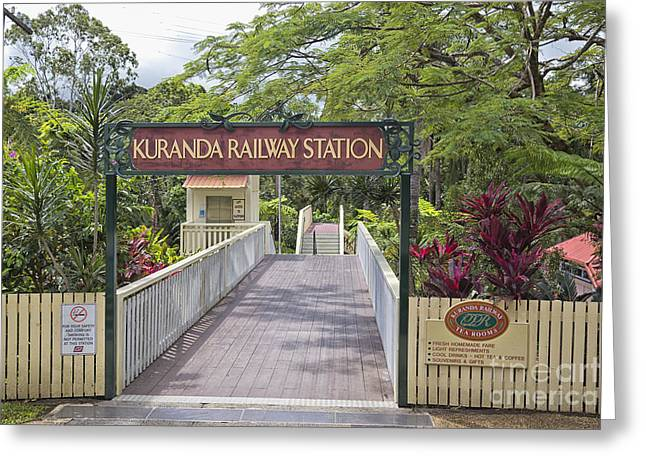 Fall Scenes Greeting Cards - Kuranda Station entrance Greeting Card by Wendy Townrow
