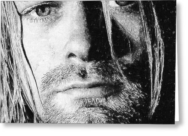 Grunge Pastels Greeting Cards - Kurt Cobain Greeting Card by Antony McAulay