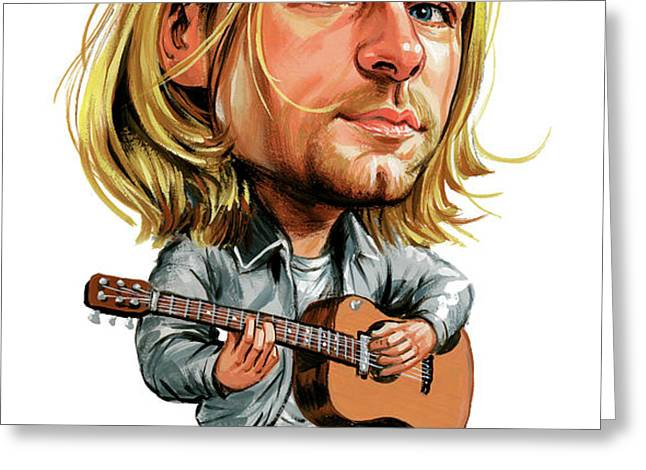 Kurt Cobain Greeting Card by Art