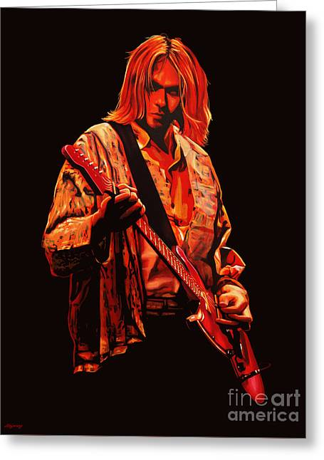 Singer Paintings Greeting Cards - Kurt Cobain Greeting Card by Paul Meijering