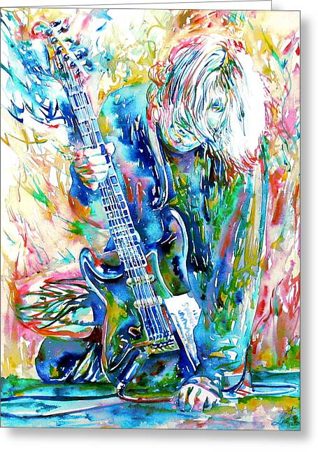 Kurt Cobain Portrait.1 Greeting Card by Fabrizio Cassetta