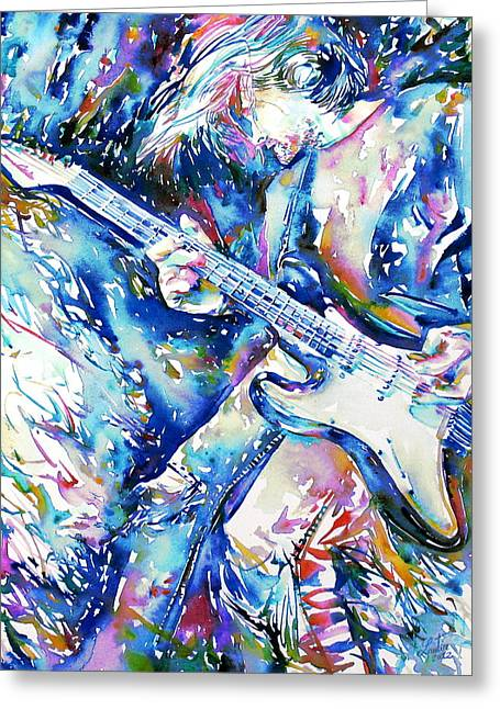 Live Concerts Greeting Cards - Kurt Cobain Portrait.3 Greeting Card by Fabrizio Cassetta