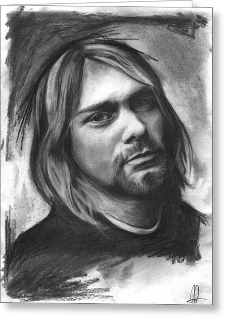 Kurt Greeting Cards - Kurt Cobain Greeting Card by Richard Day
