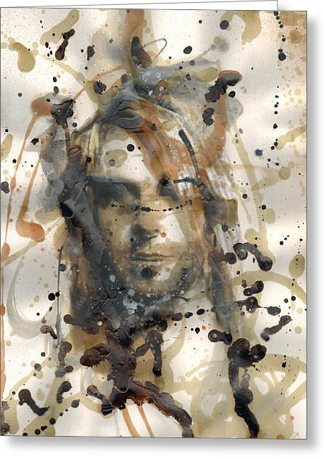 Banksy Paintings Greeting Cards - Kurt Cobain Greeting Card by Ryan  Hopkins