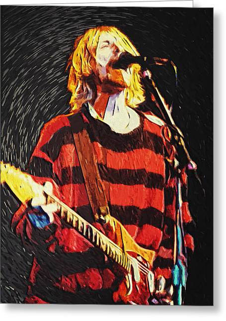 Pearl Jam Greeting Cards - Kurt Cobain Greeting Card by Taylan Soyturk