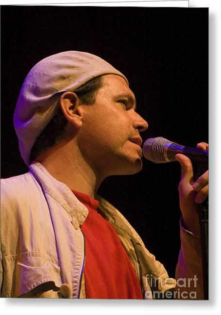 Brubeck Greeting Cards - Kurt Elling Crooning Greeting Card by Craig Lovell