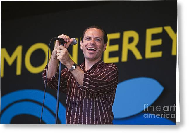 The Next Generation Greeting Cards - Kurt Elling Smiling Greeting Card by Craig Lovell