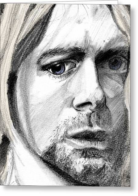 Gray Hair Greeting Cards - Kurt Greeting Card by Michele Engling