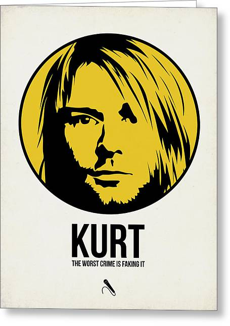 Classic Mixed Media Greeting Cards - Kurt Poster 1 Greeting Card by Naxart Studio