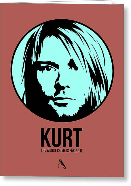 Kurt Cobain Greeting Cards - Kurt Poster 2 Greeting Card by Naxart Studio