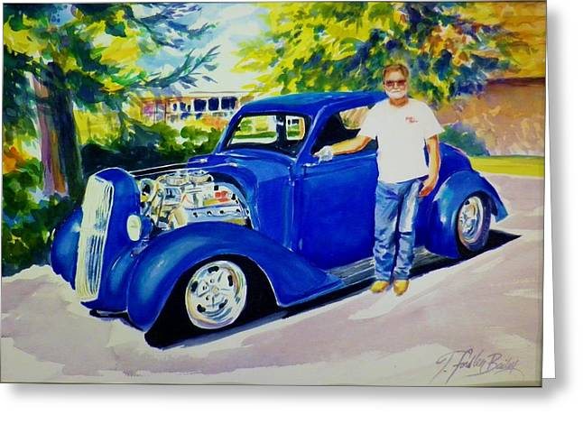 Therese Fowler-bailey Greeting Cards - Kustom Kool Commish Greeting Card by Therese Fowler-Bailey