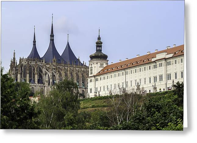 Medieval Temple Greeting Cards - Kutna Hora. Greeting Card by Fernando Barozza