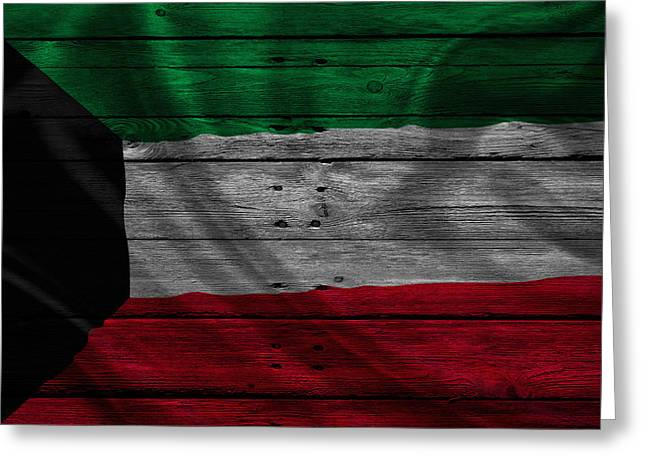 Flag Pole Greeting Cards - Kuwait Greeting Card by Joe Hamilton
