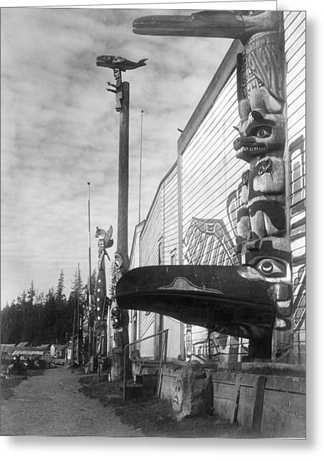 Kwakiutl Village, C1914 Greeting Card by Granger