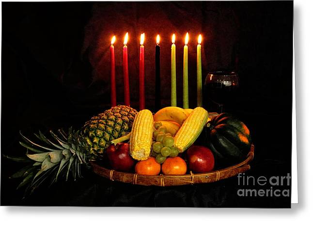 Kwanzaa Greeting Cards - Kwanzaa Greeting Card by Linda C Johnson
