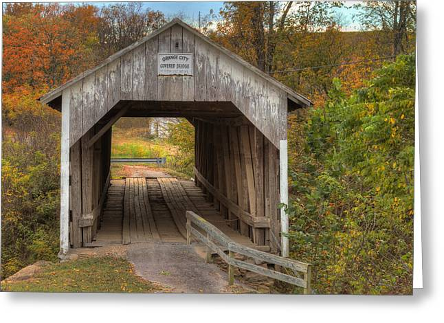 Covered Bridge Greeting Cards - KY Hillsboro or Grange City Covered Bridge Greeting Card by Jack R Perry
