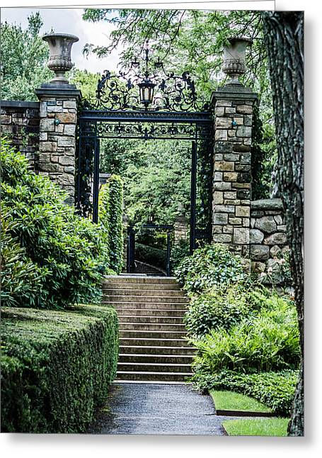 Stepping Stones Greeting Cards - Kykuit - Steps and Gates Greeting Card by Black Brook Photography