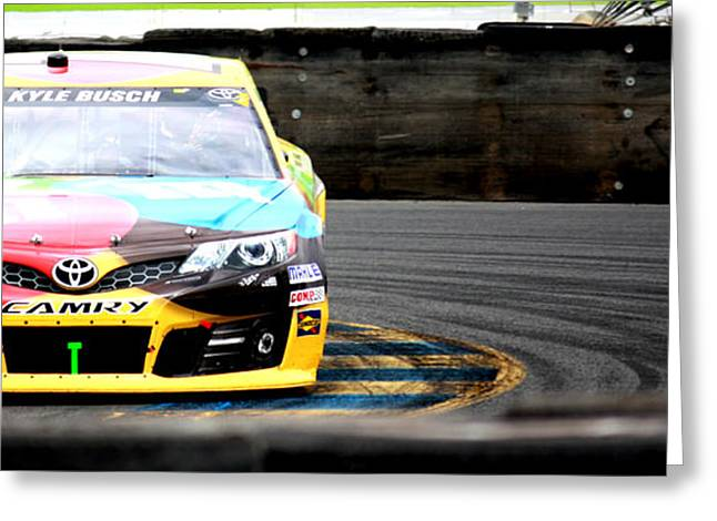 Sonoma Greeting Cards - Kyle Busch Greeting Card by Karen M Scovill