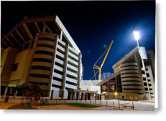 Aggies Greeting Cards - Kyle Field Construction Greeting Card by Linda Unger