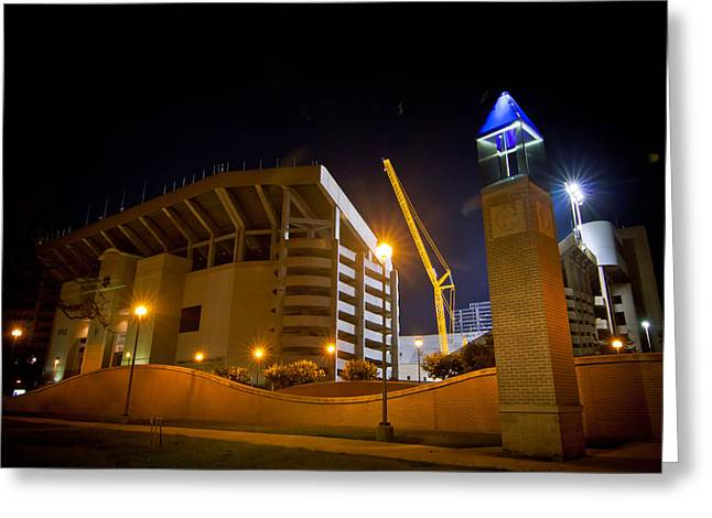 Aggies Greeting Cards - Kyle Field Greeting Card by Linda Unger
