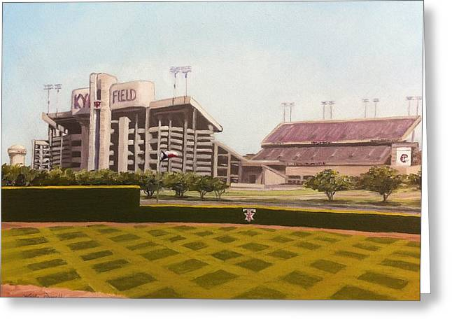 Sec Football Greeting Cards - Kyle Field Greeting Card by Wade Powell