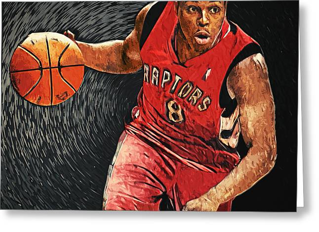 Artest Houston Rockets Greeting Cards - Kyle Lowry Greeting Card by Taylan Soyturk
