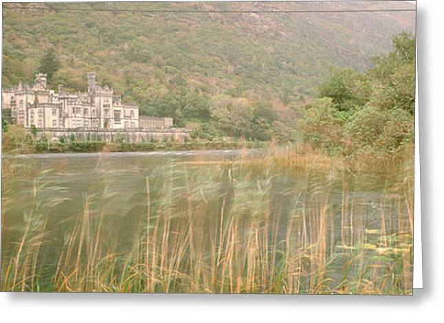Neogothic Greeting Cards - Kylemore Abbey County Galway Ireland Greeting Card by Panoramic Images