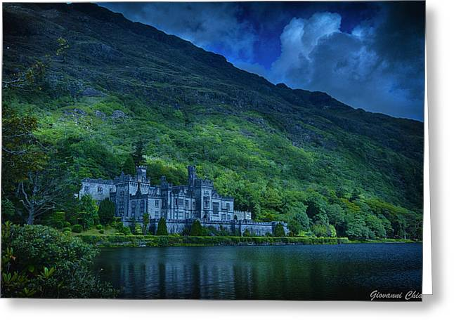 Hdr Landscape Greeting Cards - Kylemore Abbey   Ireland Greeting Card by Giovanni Chianese