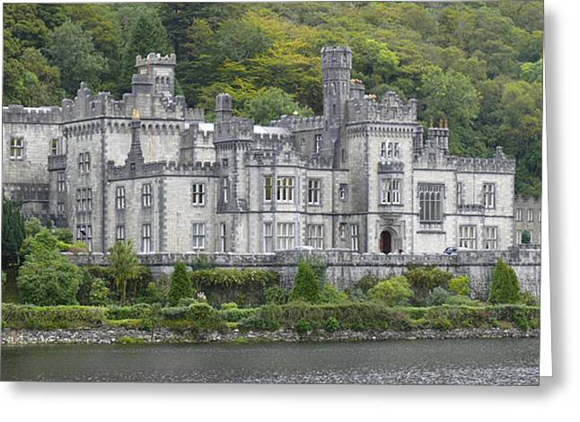 Stones Digital Art Greeting Cards - Kylemore Abbey Greeting Card by Mike McGlothlen