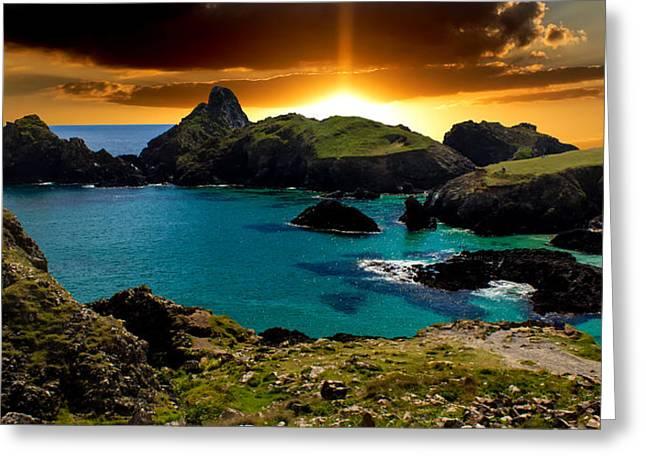 Cornwall Greeting Cards - Kynance Cove Cornwall Greeting Card by Martin Newman