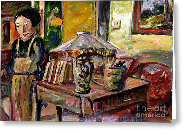 Impressionist Style Greeting Cards - Dame Ting Aiku Wu Greeting Card by Charlie Spear