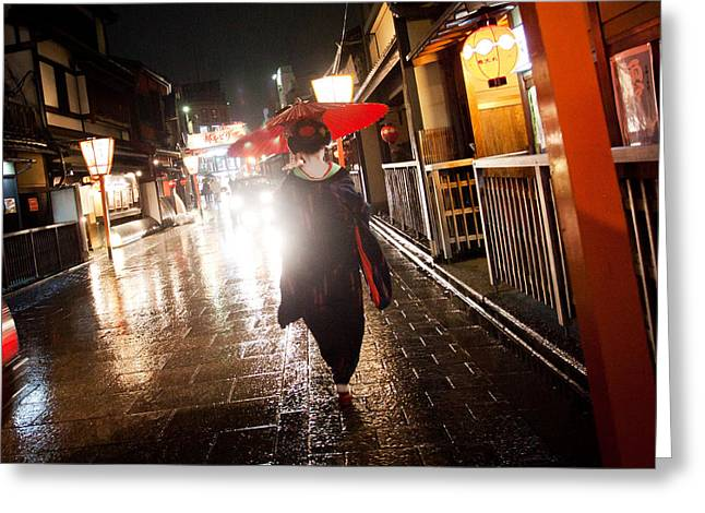 Kyoto Greeting Cards - Kyoto Nights II Greeting Card by Daniel Zrno