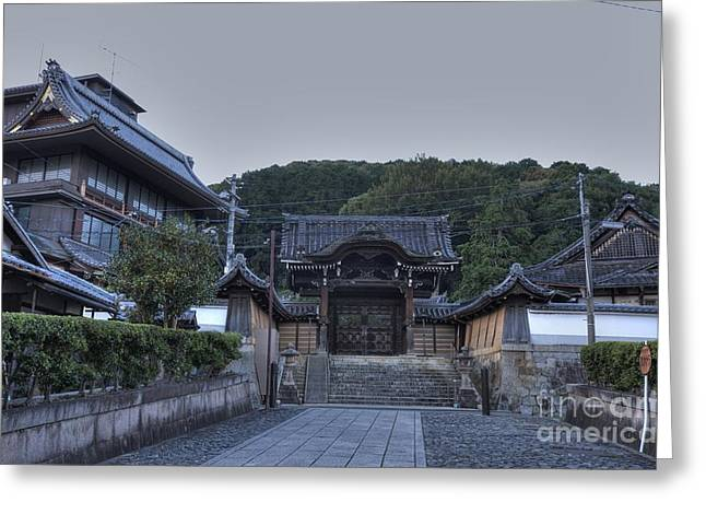 Kyoto Greeting Cards - Kyoto Temple Greeting Card by David Bearden