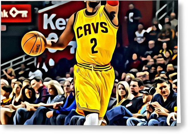Kyrie Irving Greeting Card by Florian Rodarte