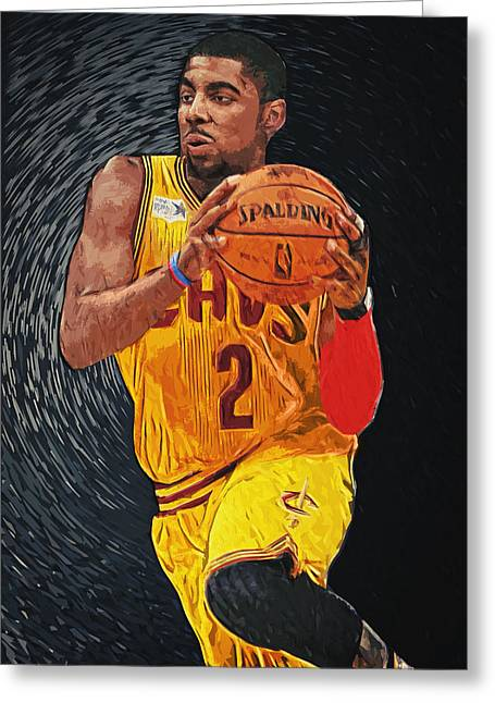 Irving Greeting Cards - Kyrie Irving Greeting Card by Taylan Soyturk