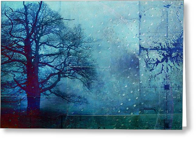 Blue Mood Greeting Cards - L Arbre de Vie - 99bt03 Greeting Card by Variance Collections