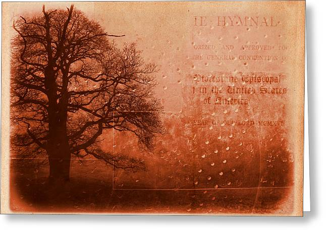 Redish Greeting Cards - L Arbre de Vie - s33rd02 Greeting Card by Variance Collections