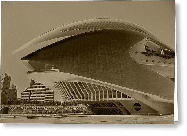 Architektur Greeting Cards - L Hemisferic - Valencia Greeting Card by Juergen Weiss
