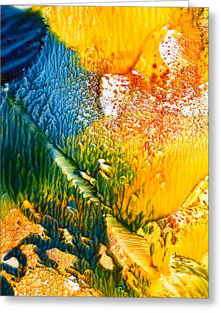 Disorder Paintings Greeting Cards - L intrus Greeting Card by Anne-Marie Coadebez