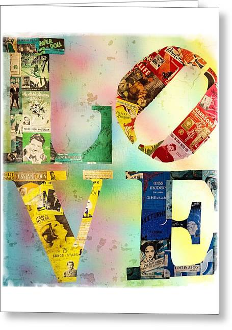 L O V E Greeting Card by Jordan Blackstone