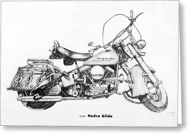Camshaft Greeting Cards - Hydra Glide Greeting Card by Stephen Brooks