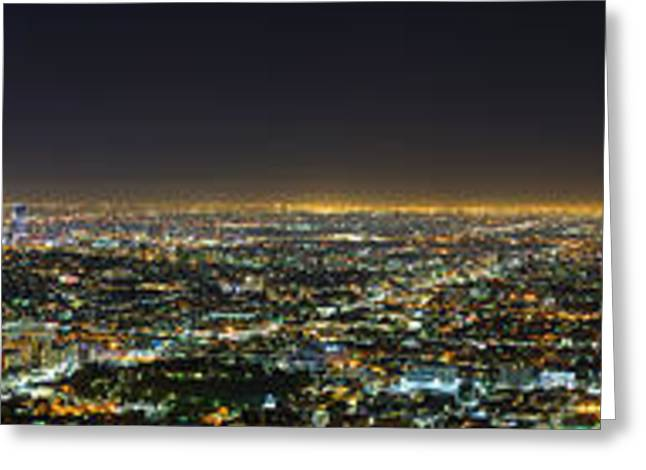 Building Greeting Cards - LA At Night Greeting Card by Metro DC Photography