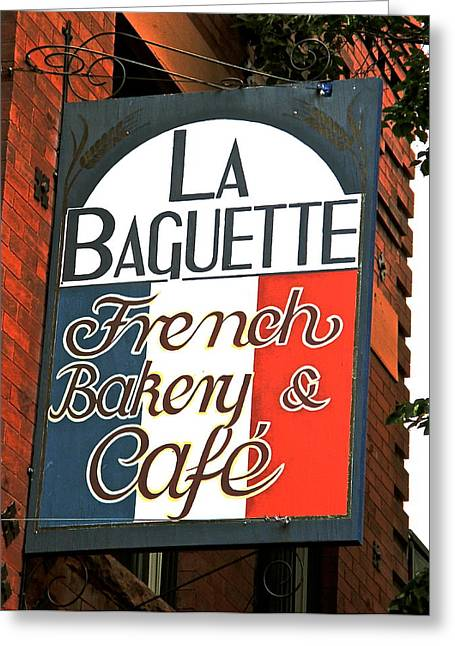 La Baguette Greeting Card by Jeff Gater