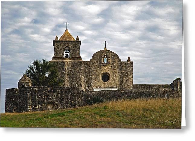 Goliad Texas Greeting Cards - La Bahia Greeting Card by Cheri Randolph