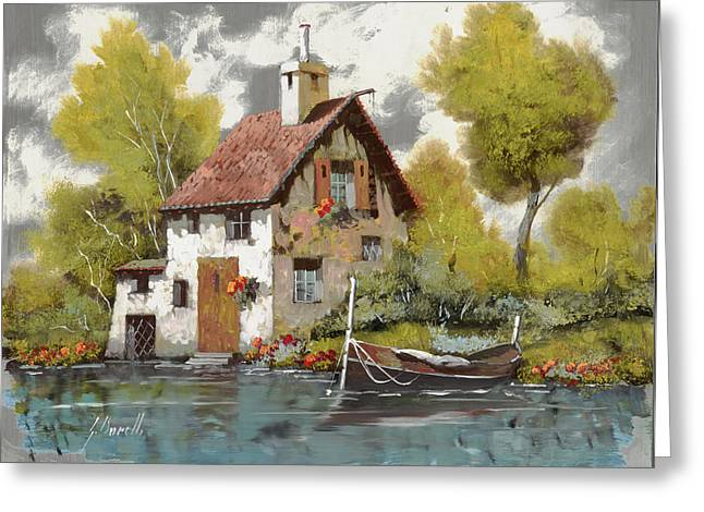 Jewelry Jewelry Greeting Cards - La Barca Greeting Card by Guido Borelli
